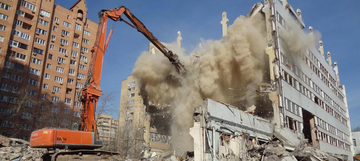 Подготовка к разборке зданий